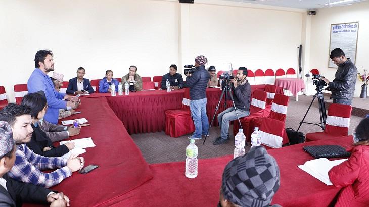 महाभेलाको जानकारी दिन आयोजना गरिएको पत्रकार सम्मेलन